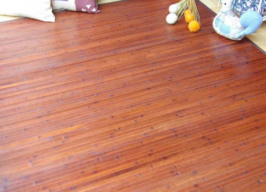 Alfombra bambú chocolate