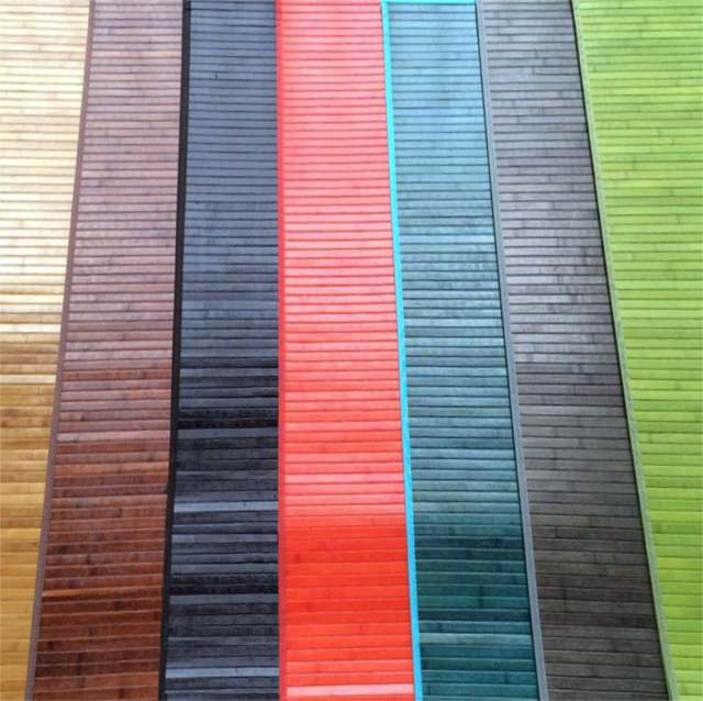 Alfombras de bambú pasilleras