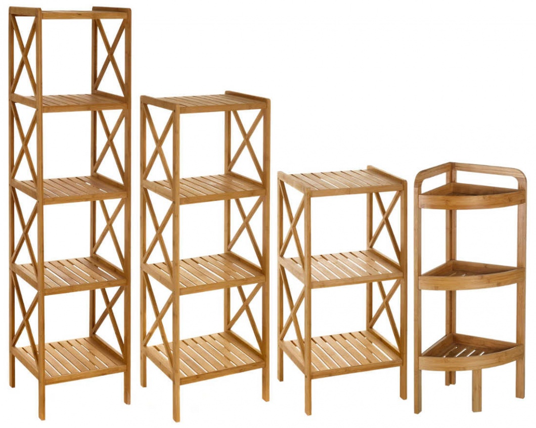 Estanterías de ordenación de bambú