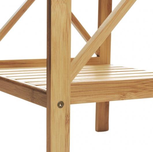 Estante de bambú para baño