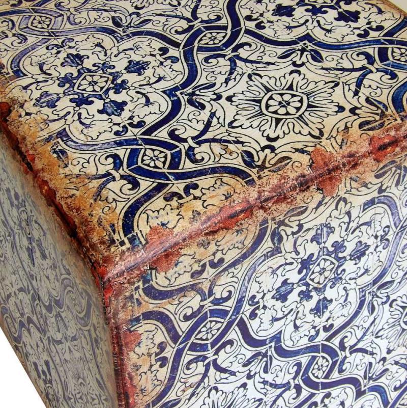 Puff arcón cerámico o de azulejo