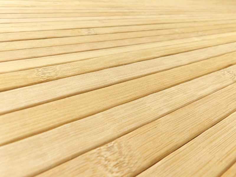 Alfombras de láminas de bambú
