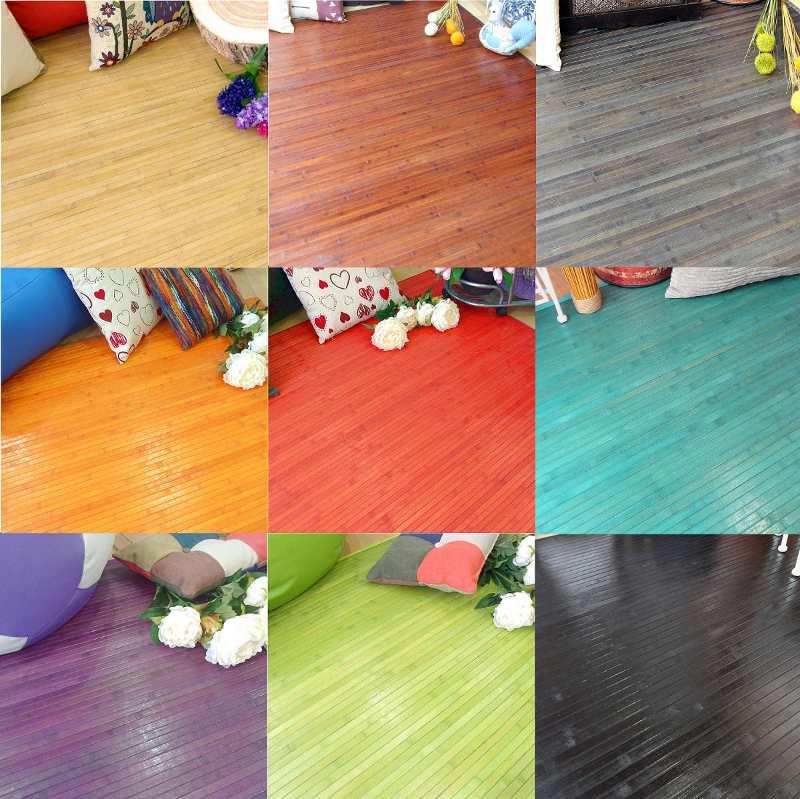 Colores de las alfombras de bambú