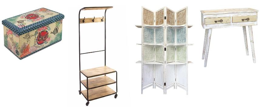 Muebles auxiliares doble uso