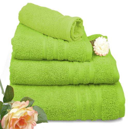 Toallas de algodón en color verde