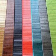Alfombras de bambú de colores