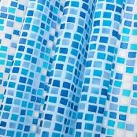 Cortina de ducha azul