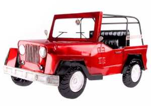 Decopared jeep rojo