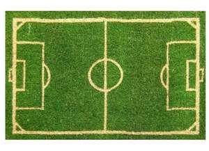 Felpudo verde fútbol