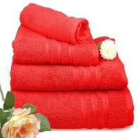 Toallas de algodón rojas
