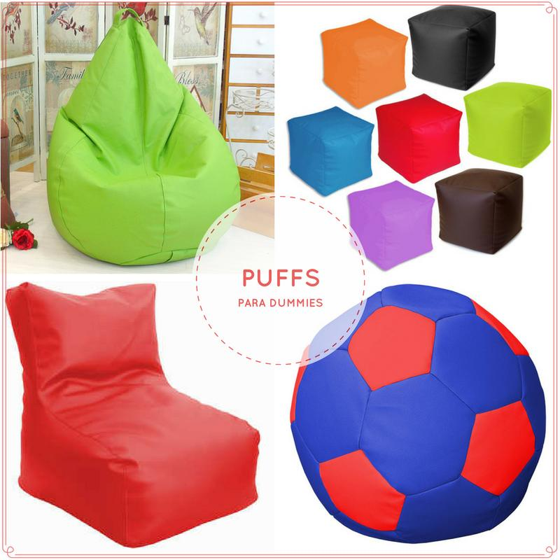 Decoración con puffs