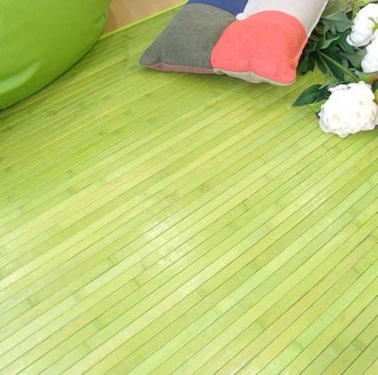 Alfombra de bambú pistacho