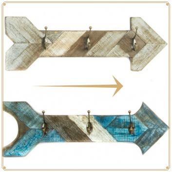 Colgadores de pared de madera