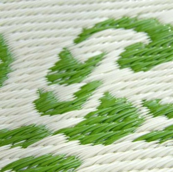 Detalle de la alfombra reciclada