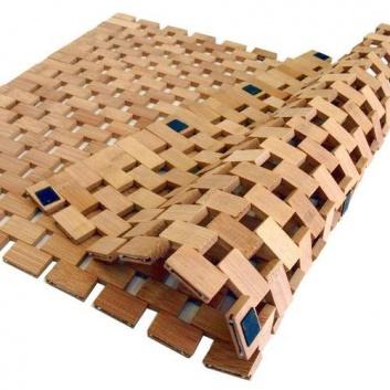 Alfombra de bambú de baño