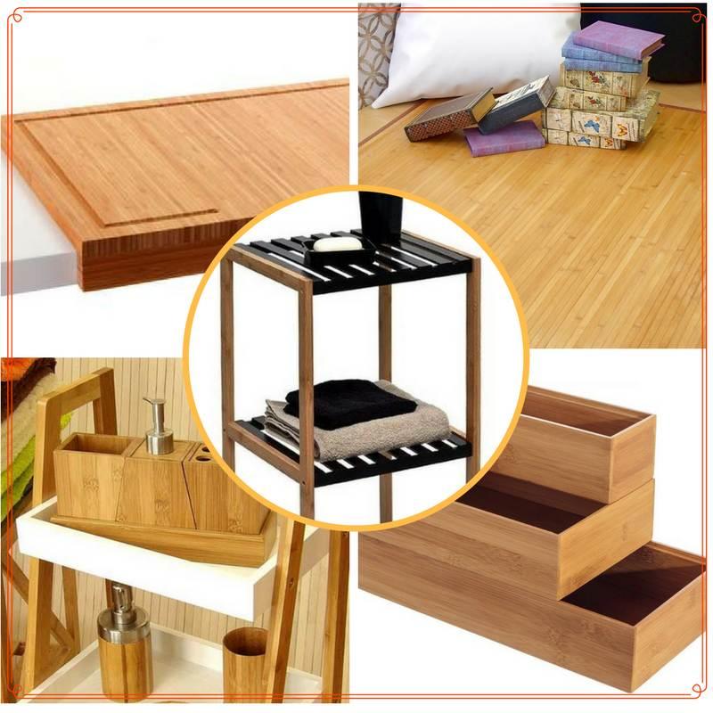 Cosas de casa de madera de bambú