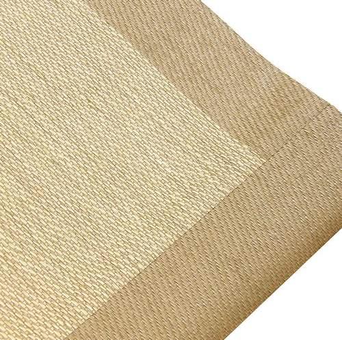 Alfombra sintética de vinilo beige