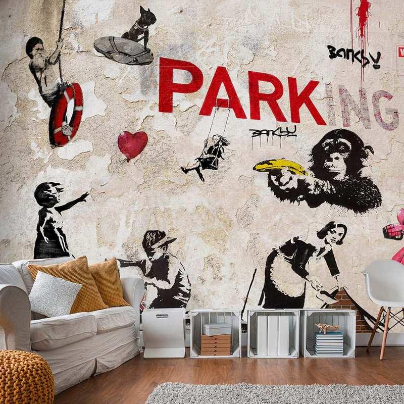 Fotomural con graffitis