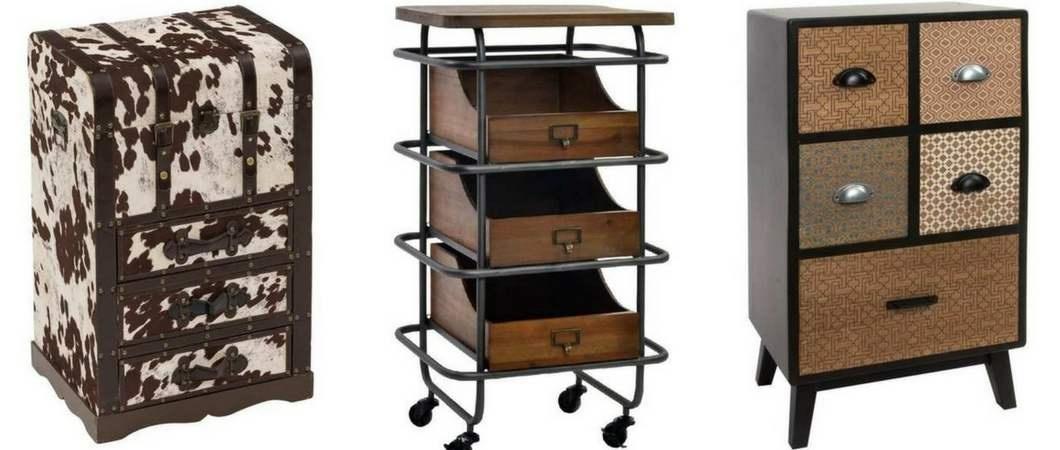Muebles auxiliares con cajones