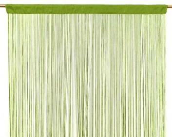 Cortina de hilos verde