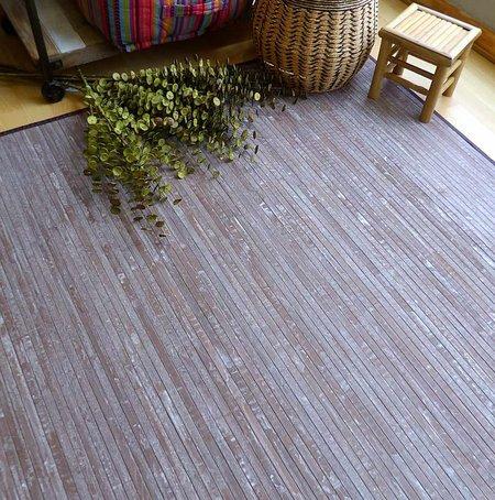 Alfombra de bambú decapada