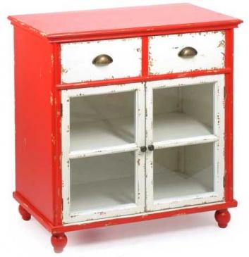 Mueble vintage rojo