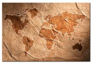Tablero de corcho mapamundi