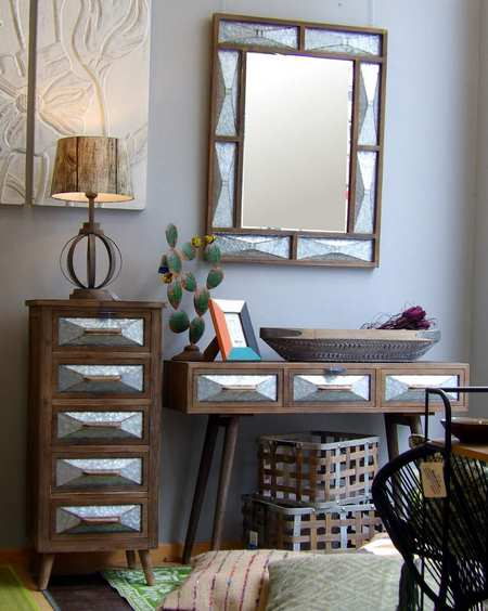 Muebles auxiliares estilo industrial