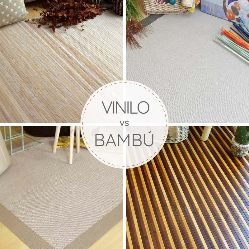 Alfombras de bambú vs alfombras de vinilo