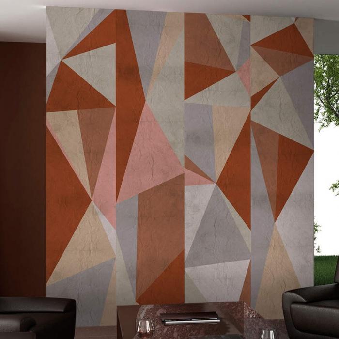 Papel pintado con diseños geométricos
