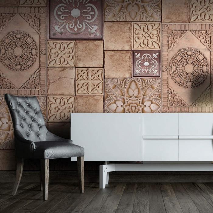 Papel pintado con texturas en relieve