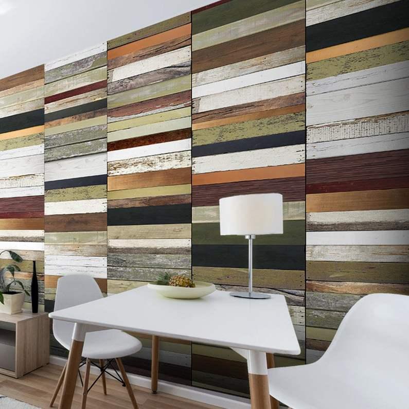 Papel pintado textura de madera