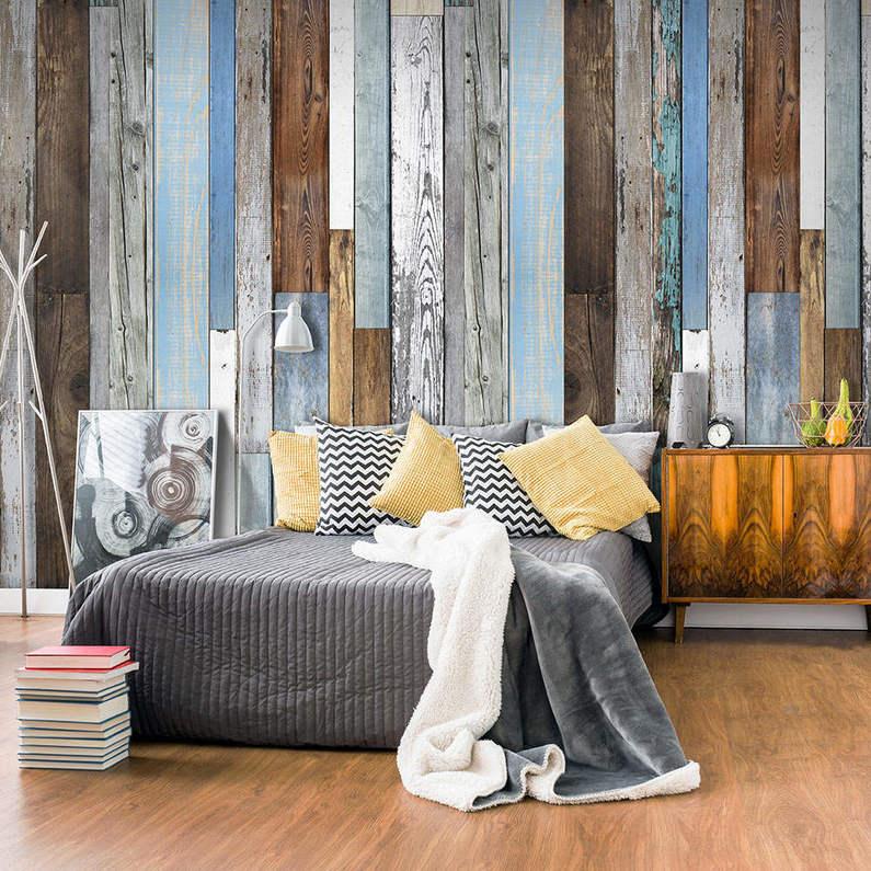 Papel pintado con textura de tablas