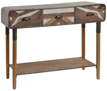 Aparador metal y madera