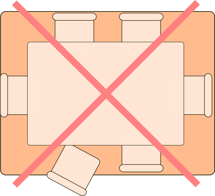 Tamaño de alfombras para comedor