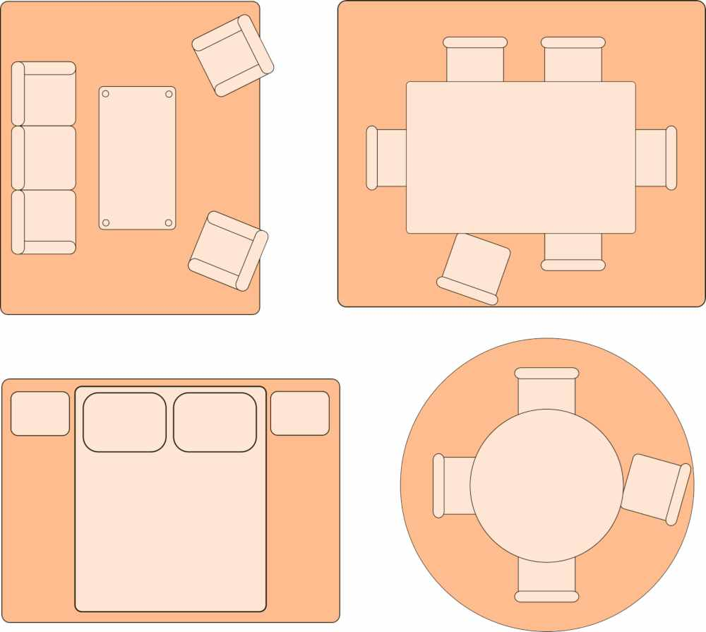 Cómo elegir la medida de las alfombras