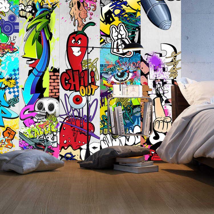 Fotomural con grafiti