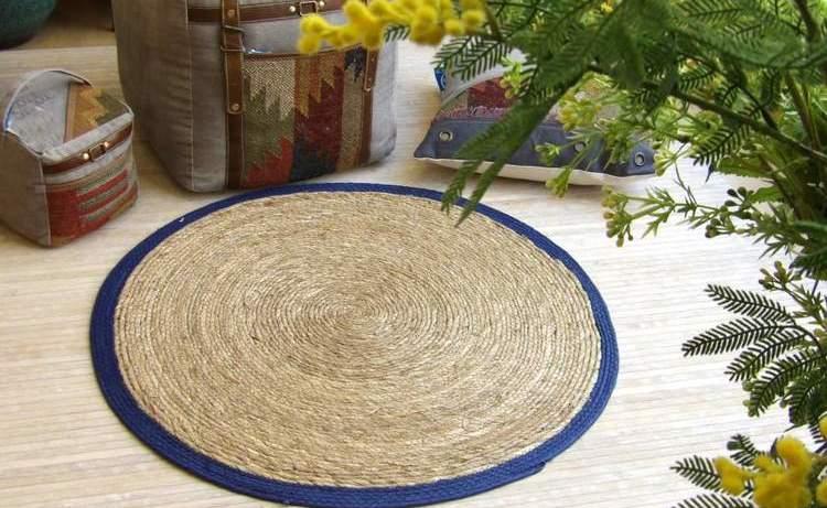 Alfombra de fibra natural