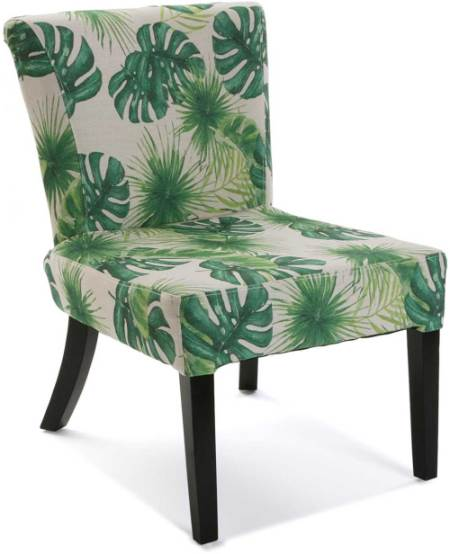 Silla estampada tropical