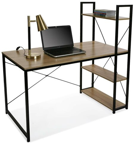 Estantería con mesa de trabajo