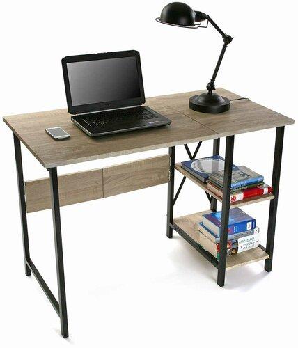 Mesa plegable con estantería