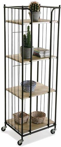 Estantería jaula metal y madera