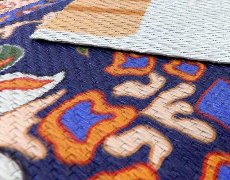 Textura de la alfombra de impresión digital